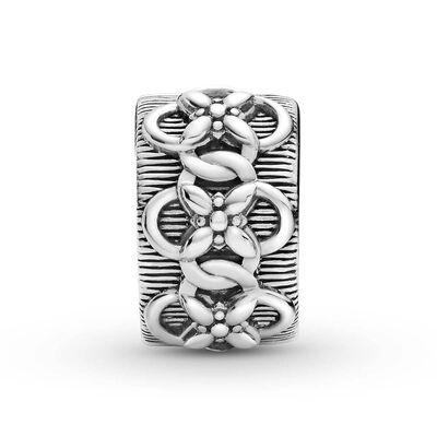 Pandora Flower Pattern Clip Charm