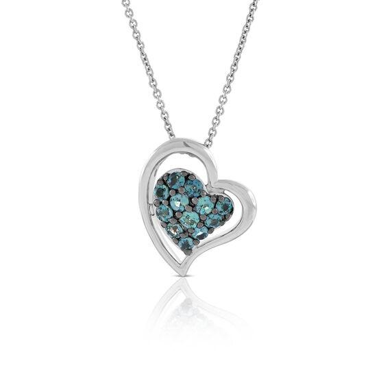 Alexandrite Gemstone Heart Pendant 18K
