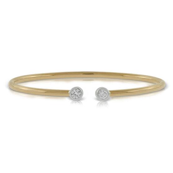 Rose Gold Diamond Flex Bangle 18K