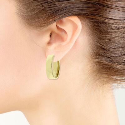 Toscano Faceted Hoop Earrings 14K