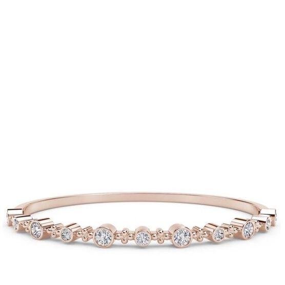 Forevermark Tribute Rose Gold Diamond Bangle 18K