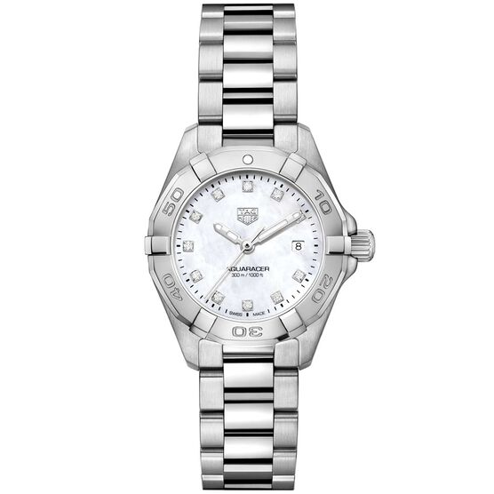 TAG Heuer Aquaracer Quartz Ladies Mother of Pearl Steel Watch