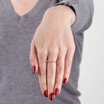 Rose Gold Diamond Bar Ring 14K