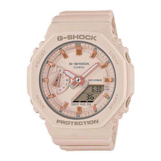 G-Shock Light Pink & Rose Detailed Octagon Bezel Watch, 46.2mm