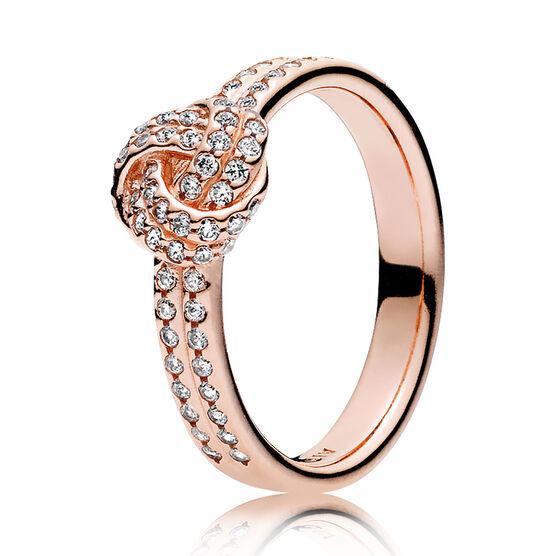 Sparkling Love Knot, PANDORA Rose™ CZ Ring