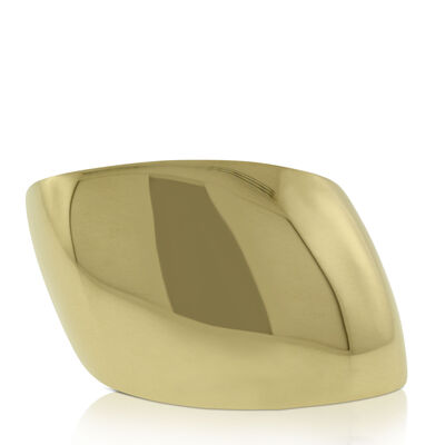 Roberto Coin Golden Gate Slanted Dome Ring 18K