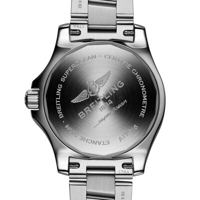 Breitling Superocean Automatic 36 Blue Steel Watch, 36mm
