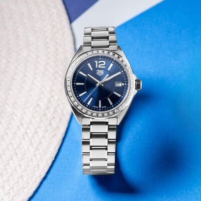 TAG Heuer Lady's Link Diamond Bezel Quartz Watch