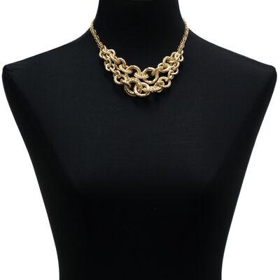 Toscano Double Strand Golden Link Necklace 18K