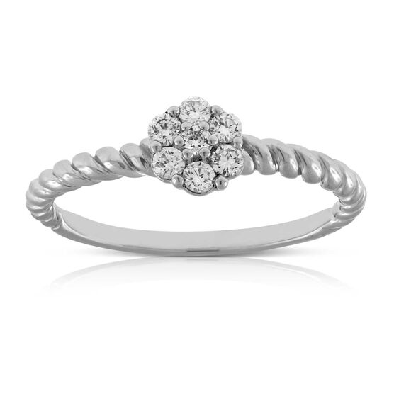 Cluster Diamond Ring 14K