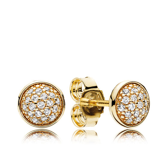 PANDORA Dazzling Droplets CZ  Stud Earrings 14K