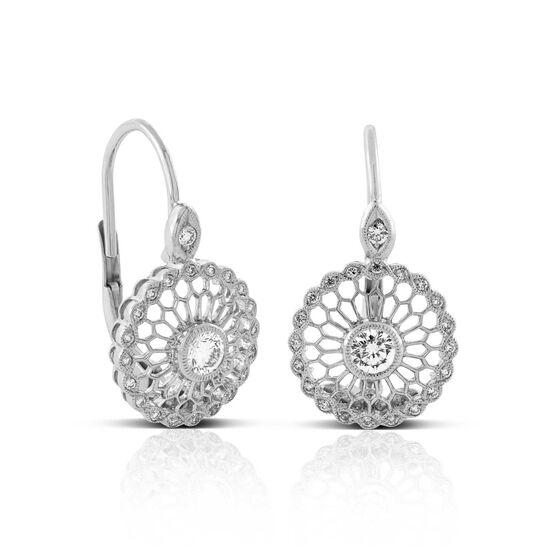 Signature Forevermark Mandala Diamond Earrings 18K