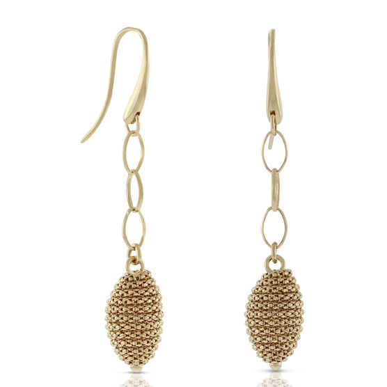 Toscano Beaded Dangle Earrings 18K