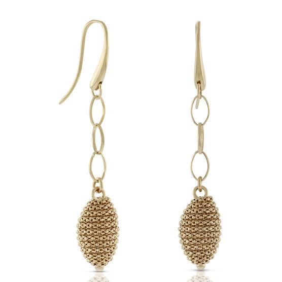 Toscano Beaded Dangle Earrings 18K