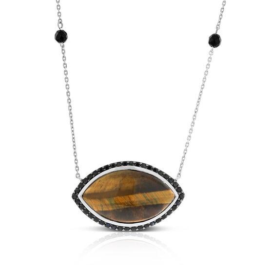 Lisa Bridge Tiger's Eye, Onyx & Black Sapphire Necklace