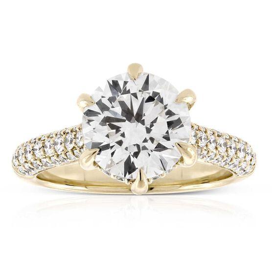Ikuma Canadian Diamond Engagement Ring 14K, 3.01 Center