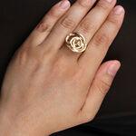 Toscano Satin Swirl Ring 14K