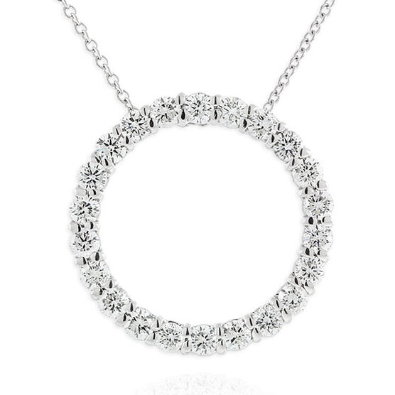 Diamond Circle Pendant 14K, 1 ctw.