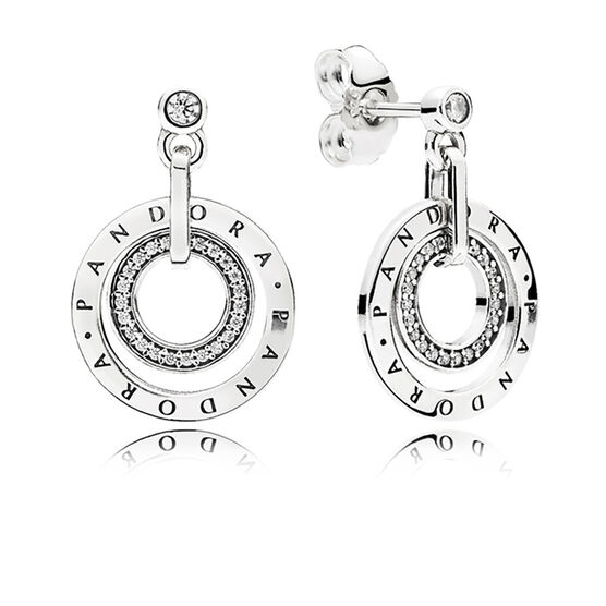 PANDORA Circles Drop CZ Earrings