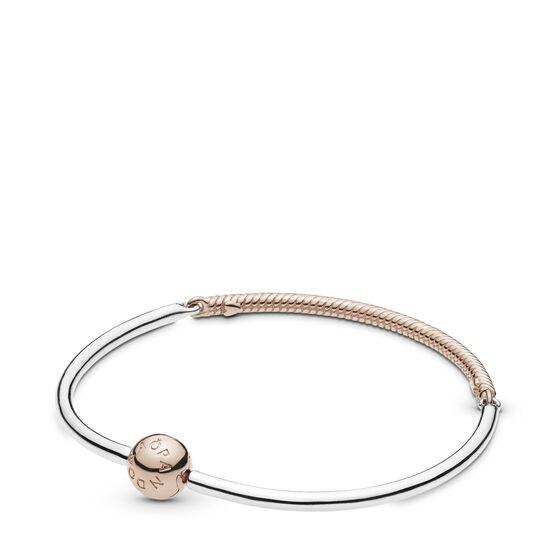Pandora Moments Three-Link Pandora Rose™ Bangle Bracelet