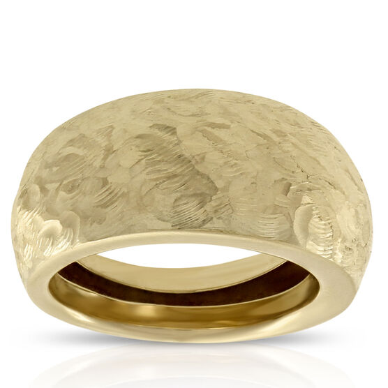 Hammered Texture Ring 14K