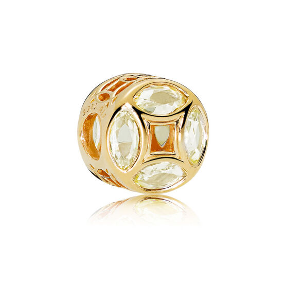 PANDORA Good Fortune Coin CZ Charm, PANDORA Shine™