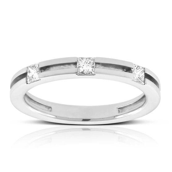 Men's Square Cut Diamond Wedding Ring 14K
