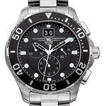 TAG Heuer Aquaracer Grande Quartz Mens Black Steel Chronograph Watch