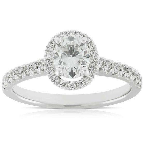 Signature Forevermark Black Label Oval Halo Diamond Ring 18K