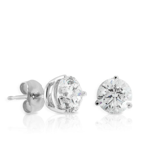Diamond Solitaire Earrings 14K, 2 ctw.