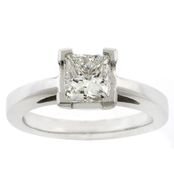 Princess Cut Diamond Solitaire Ring 14K, 1 & 1/2 ct.
