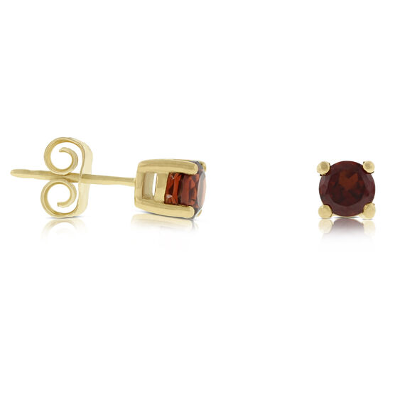 Garnet Stud Earrings 14K