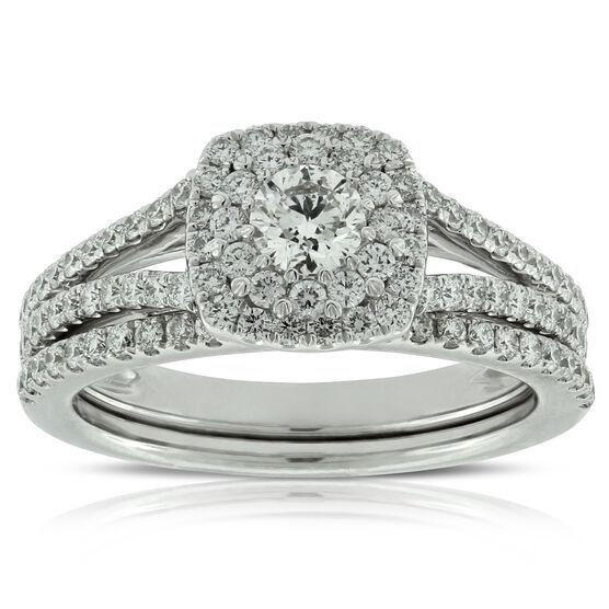 Halo Diamond Wedding Set 14K | Tuggl