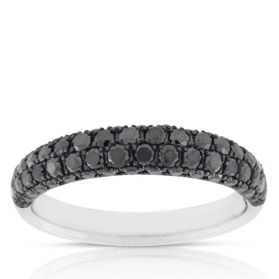 Black Diamond Pave Ring 14K,  Size 7