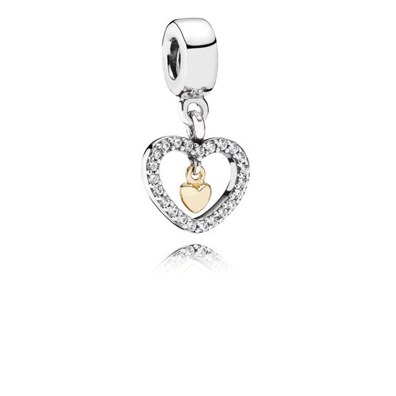 Pandora Forever In My Heart Charm, Sterling & 14K