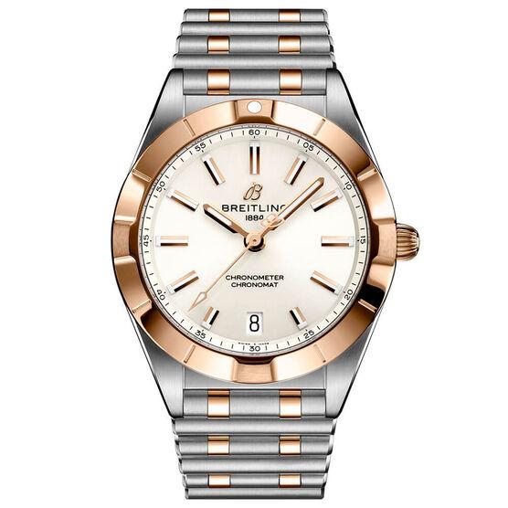 Breitling Chronomat 32 White Watch, 32mm, 18K & Steel