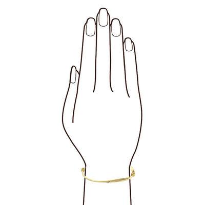 Soft Twisted Bangle Bracelet 14K