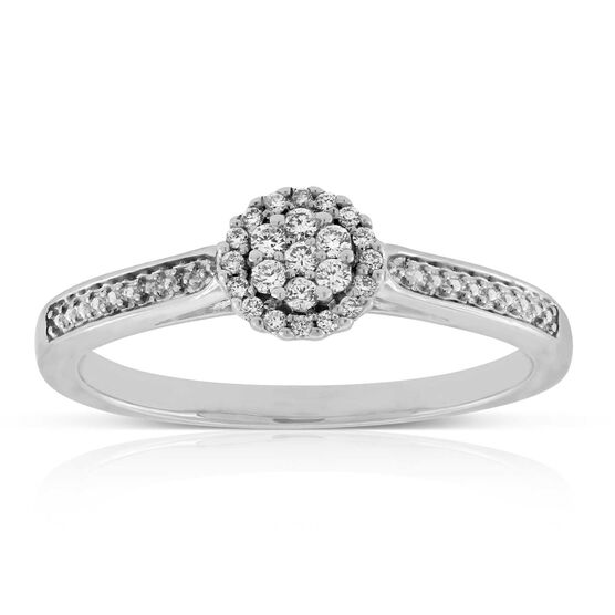 Diamond Cluster Promise Ring 14K