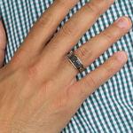 Black Diamond Men's Ring in Silver