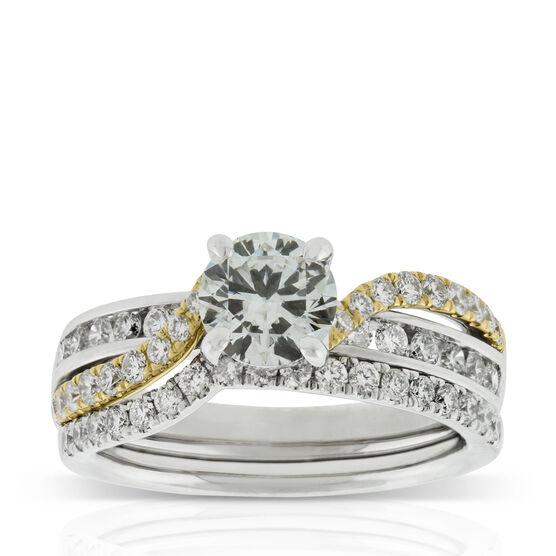 Two-Tone Diamond Bridal Set 14K