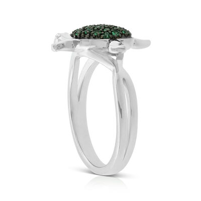 Lisa Bridge Emerald Turtle Ring