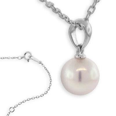 Mikimoto Akoya Cultured Pearl Pendant, 6mm, AA, 18K