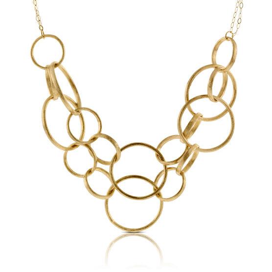 Toscano Interlocking Rings Bib Necklace 14K