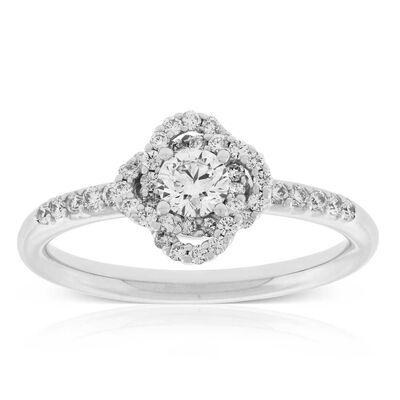 Signature Forevermark Diamond Flower Ring 18K