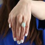 Opal, Emerald & Diamond Ring 14K