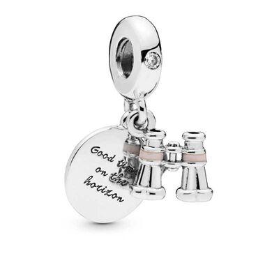 Pandora Heart Binoculars Dangle CZ & Enamel Charm