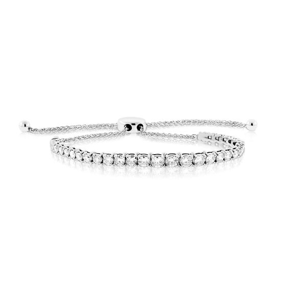 Diamond Bolo Bracelet 14K, 3 ctw.