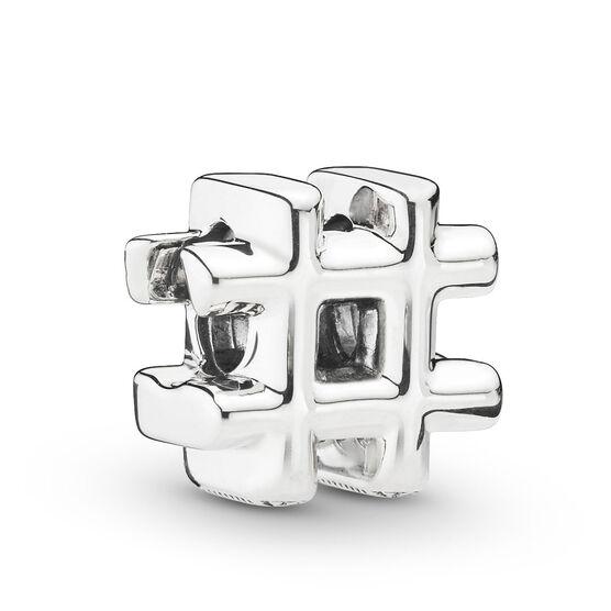 Pandora Hashtag Symbol Charm