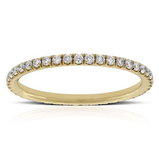 Diamond Eternity Band 14K, Size 7