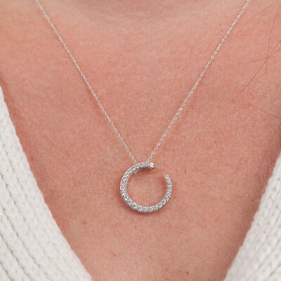HOPECIRCLE Diamond Pendant 14K, 1/2 ctw.